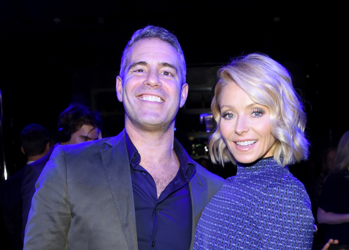 kelly ripa & andy cohen - getty