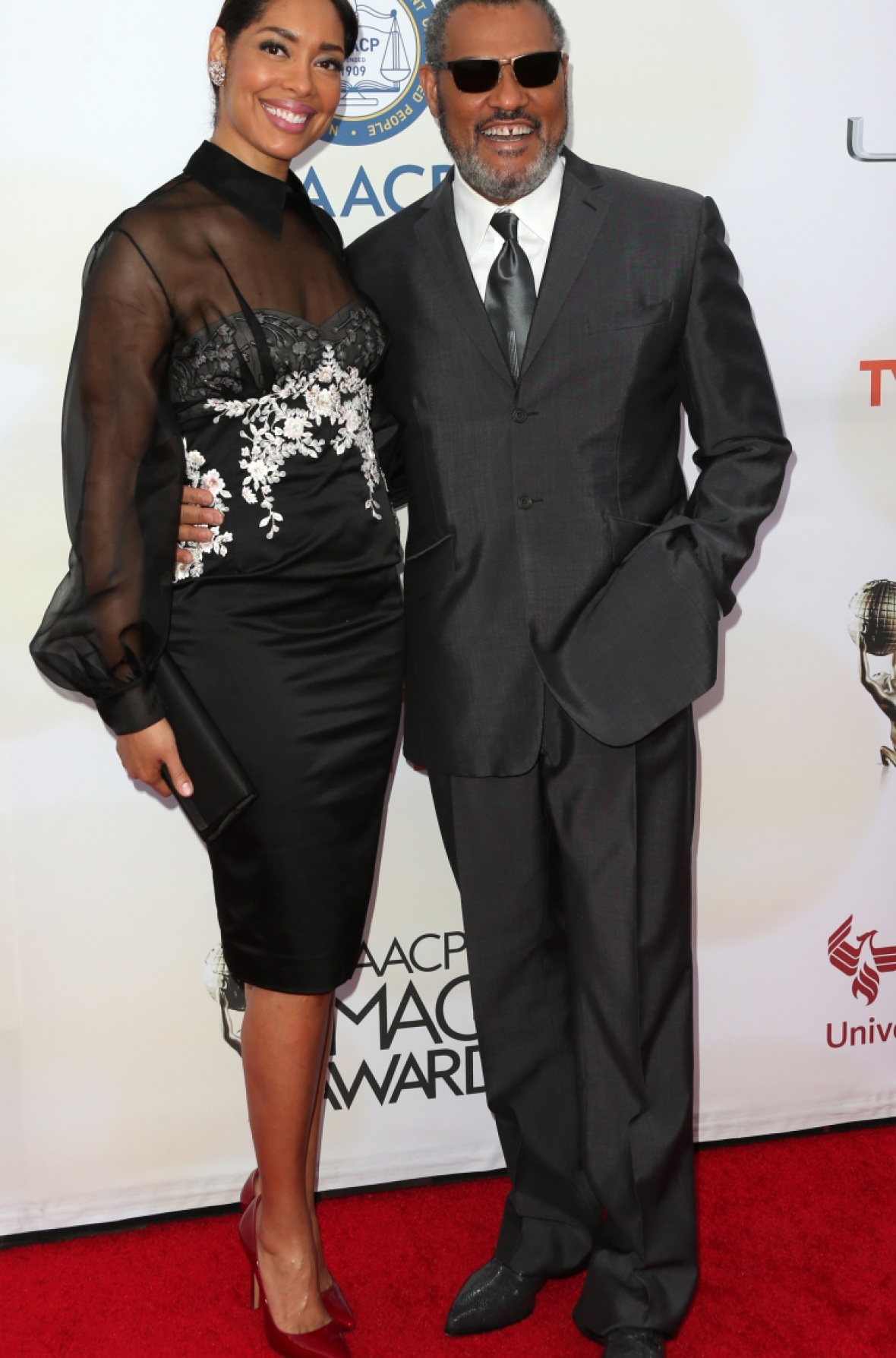 laurence fishburne gina torres getty images