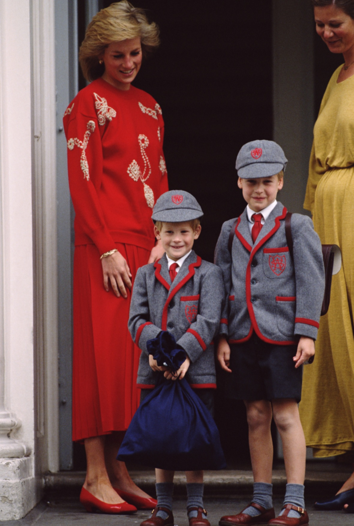 princess diana prince william and harry school getty images