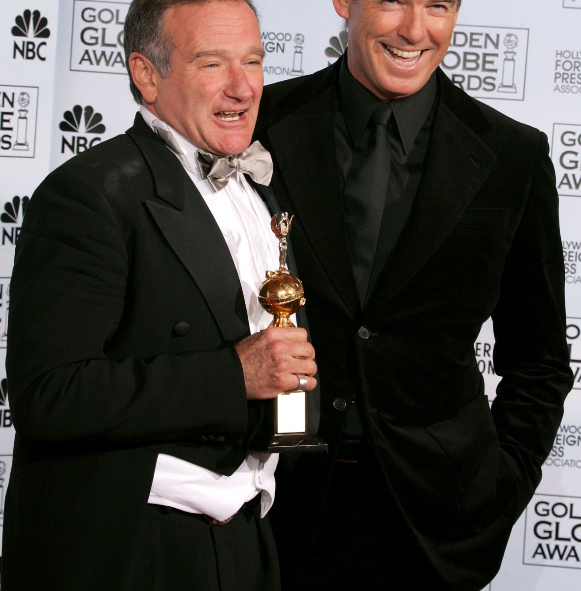 robin williams pierce brosnan getty images