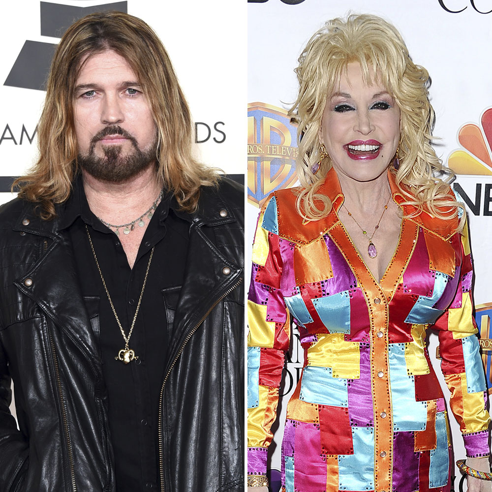 billy ray cyrus dolly parton getty images