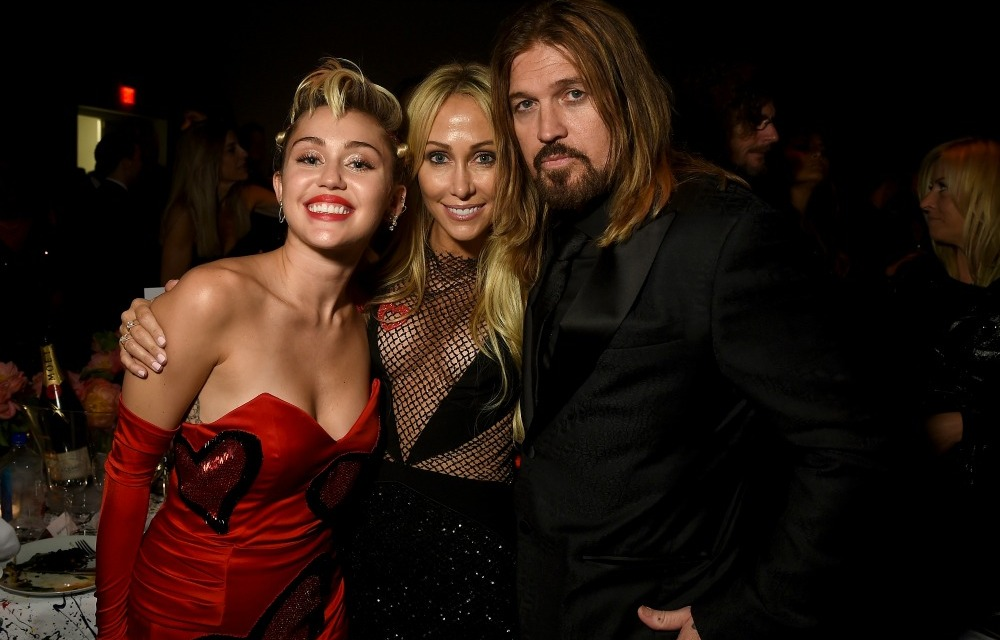 miley cyrus billy ray tish getty
