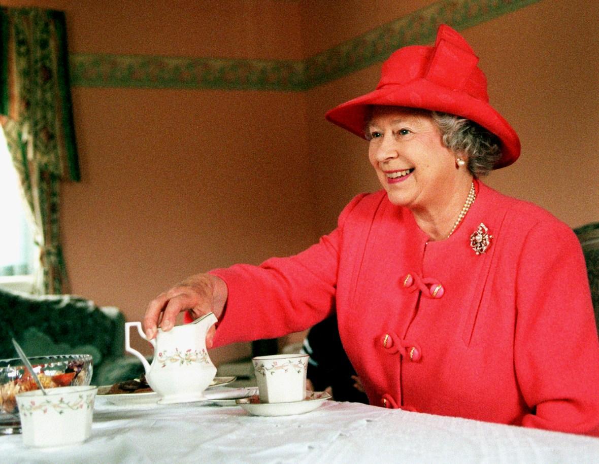 queen elizabeth breakfast getty images