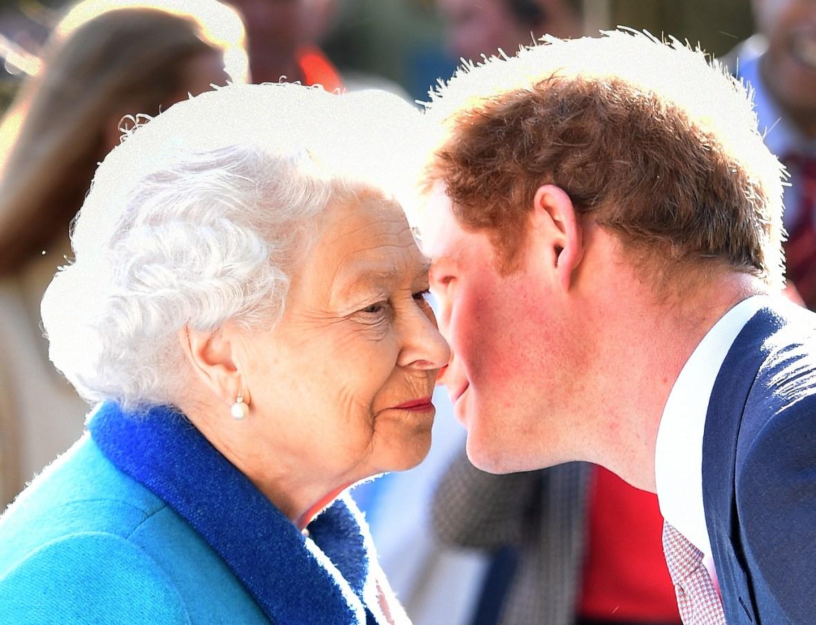 queen elizabeth prince harry getty images