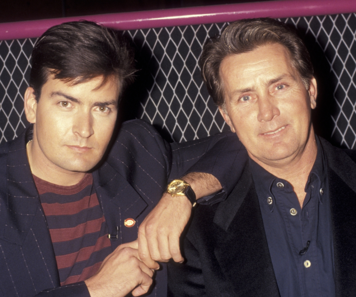 martin sheen charlie sheen getty images