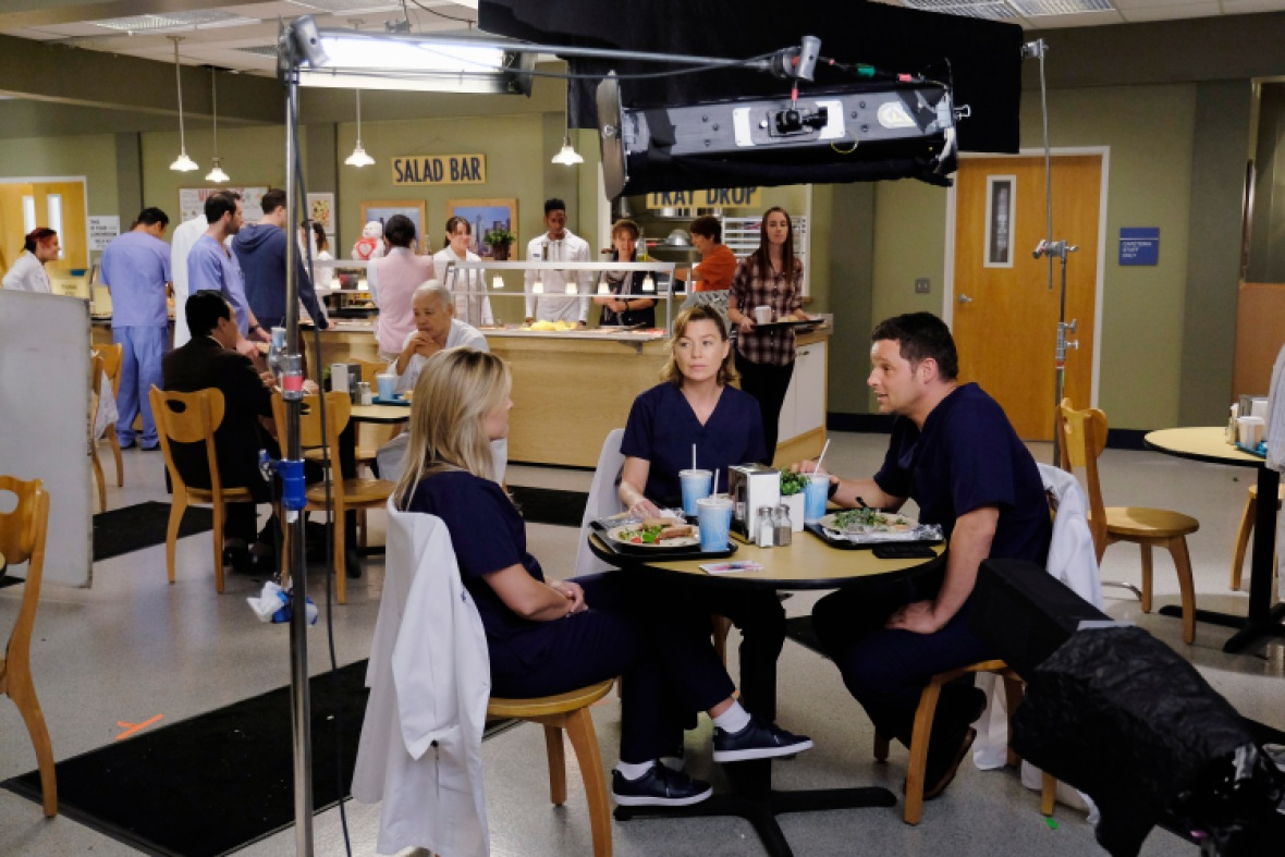 'grey's anatomy' filming getty images