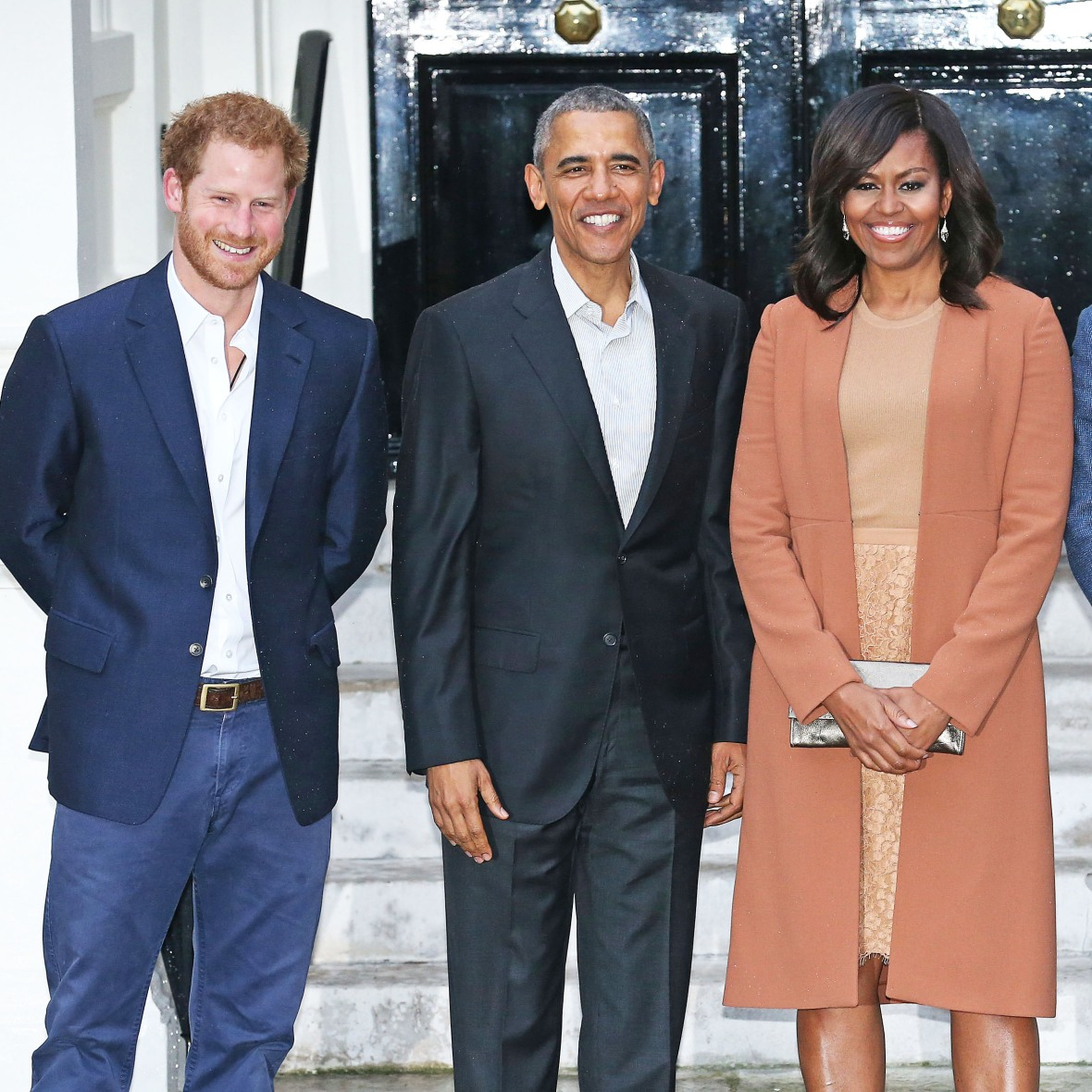 prince harry barack michelle obama getty images