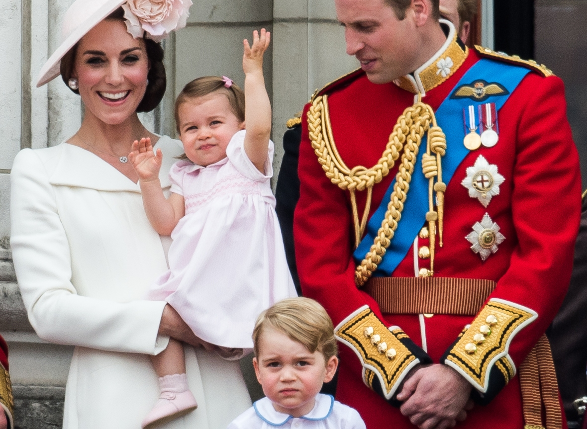 princess charlotte waving balcony debut getty