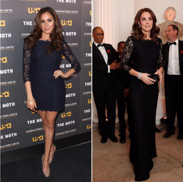 meghan markle kate middleton same dress