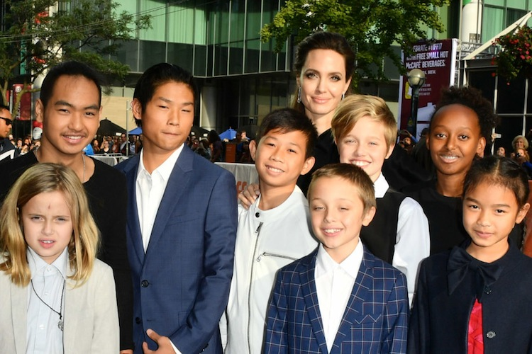 angelina jolie kids getty