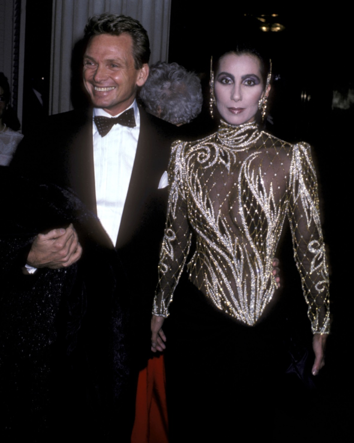 cher and bob mackie in 1985 getty