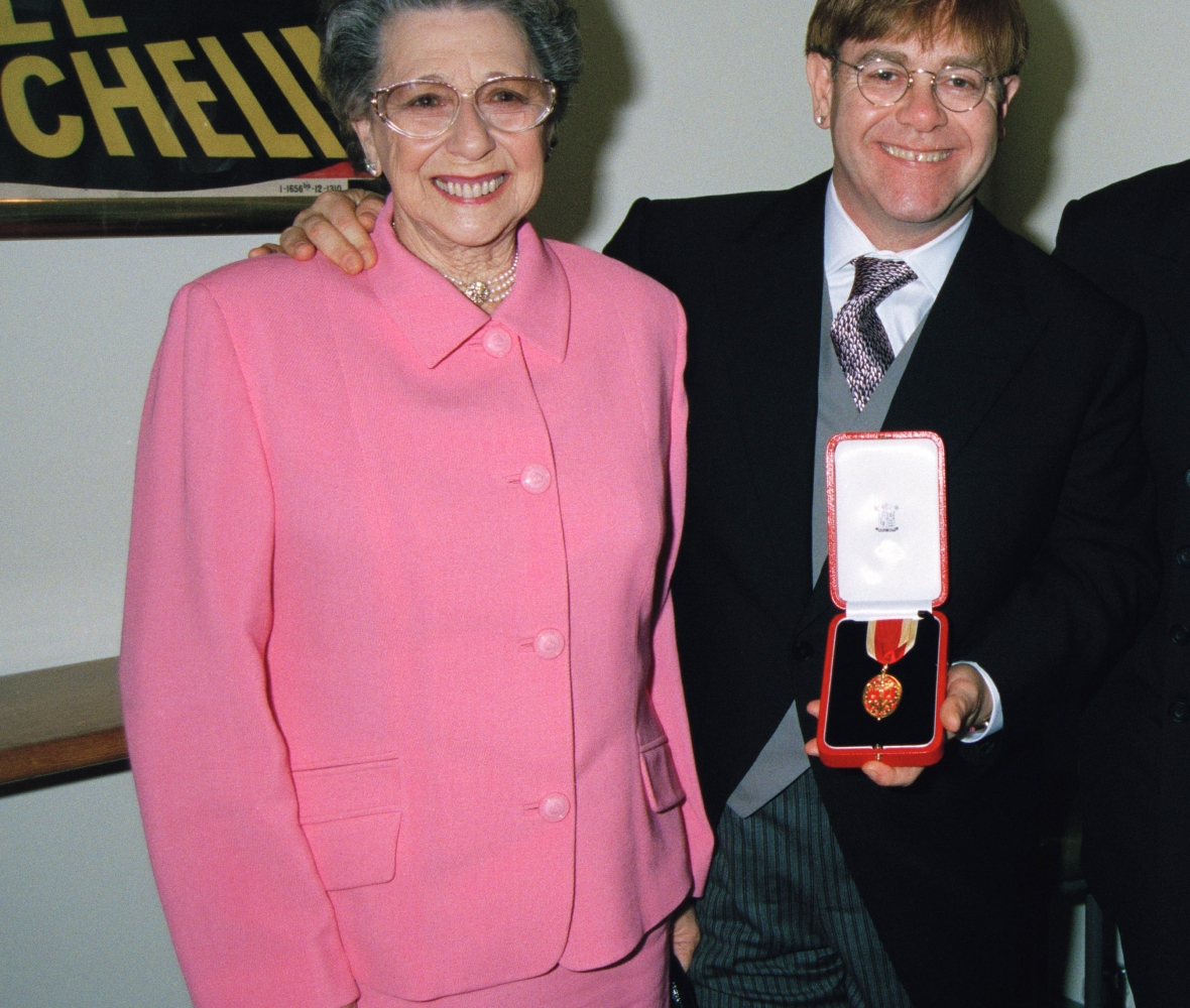 elton john mom getty images