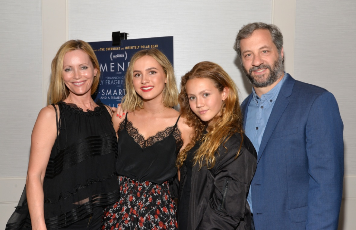 judd apatow leslie mann kids getty images