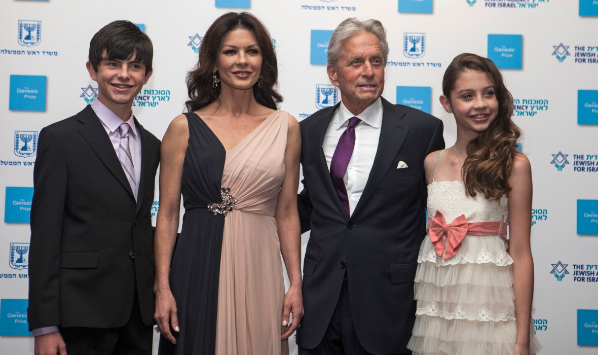 michael douglas family getty images