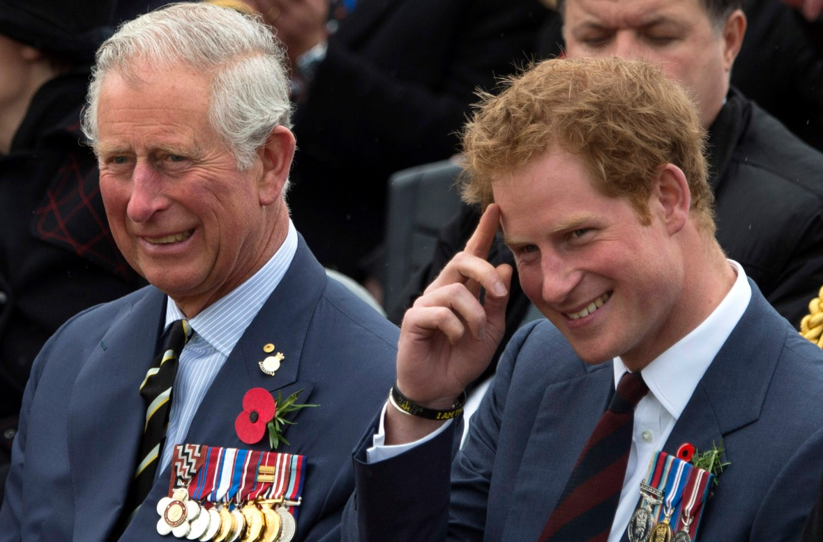 prince harry prince charles getty images