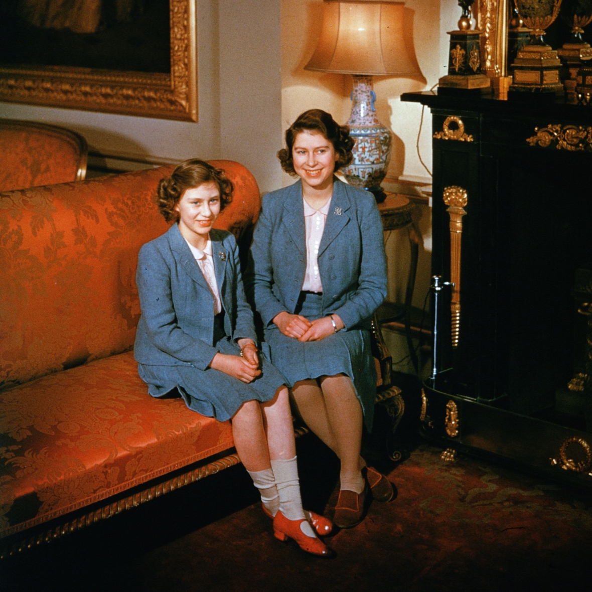princess margaret queen elizabeth getty images