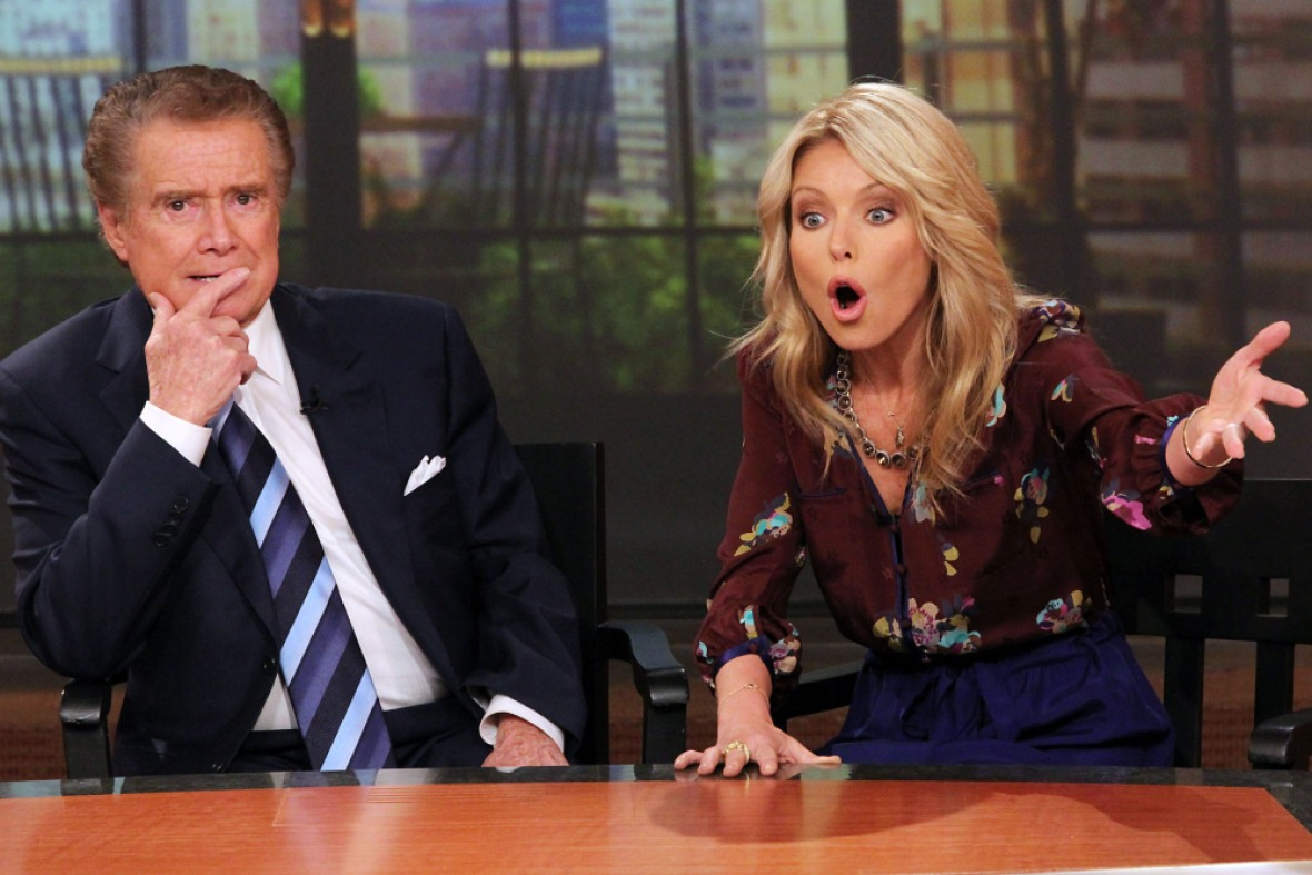 kelly ripa regis philbin getty images