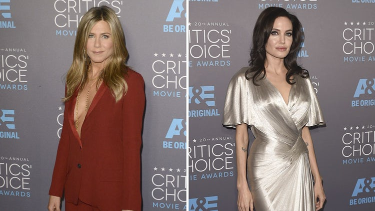 jennifer aniston angelina jolie getty images