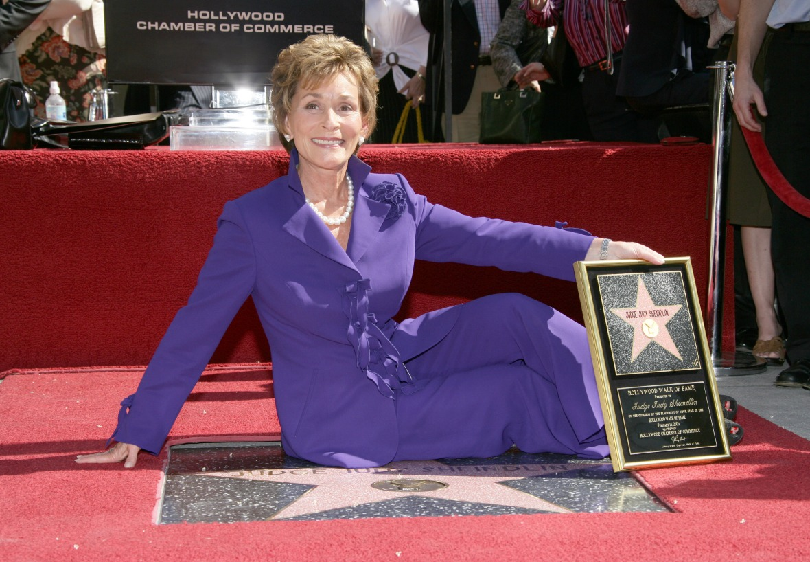 judge judy walk of fame getty images