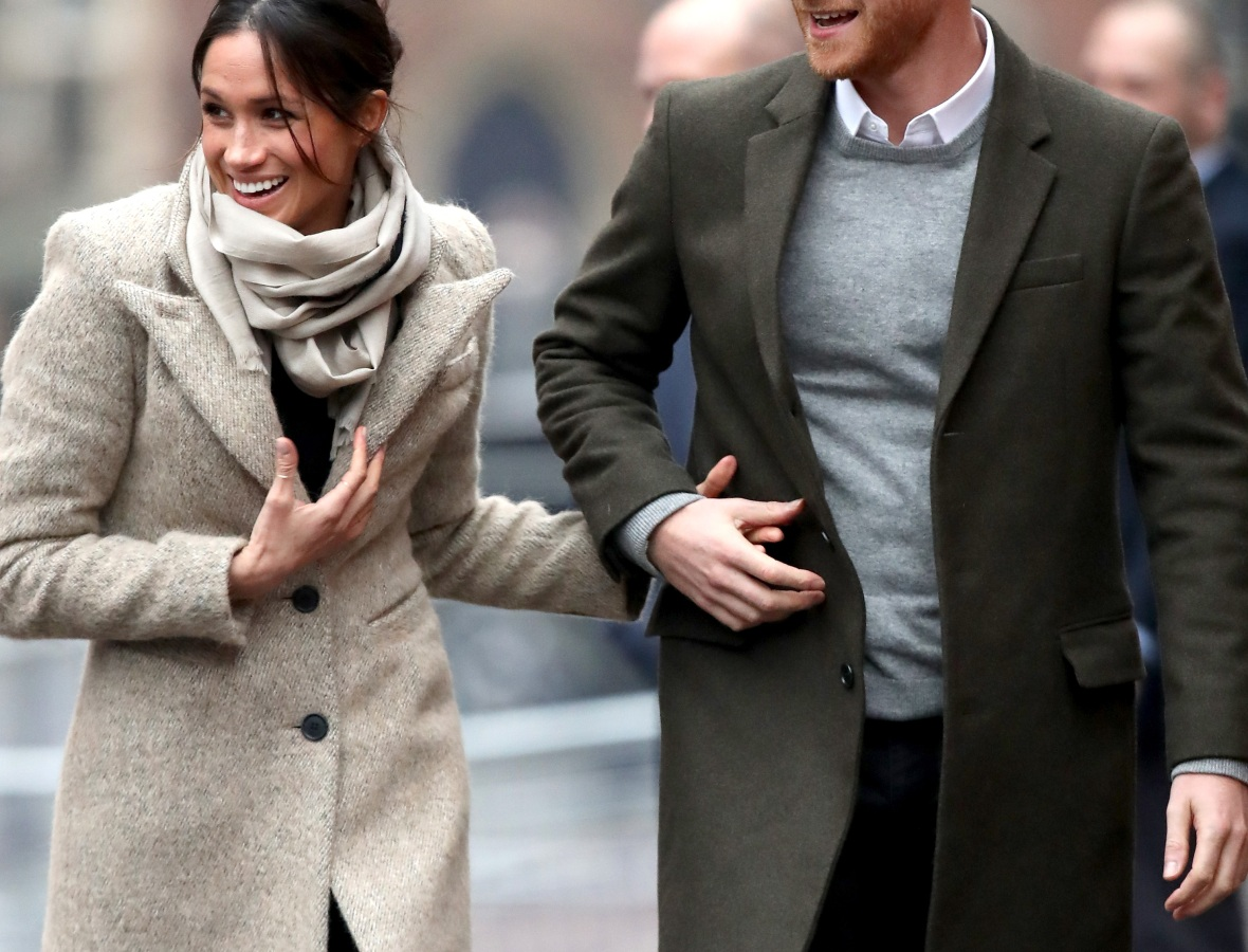 prince harry and meghan markle smiling getty images