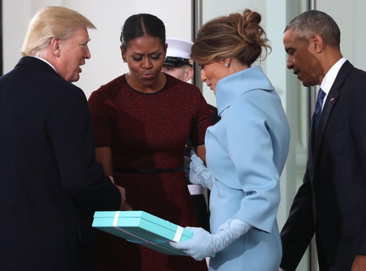 melania trump michelle obama getty images