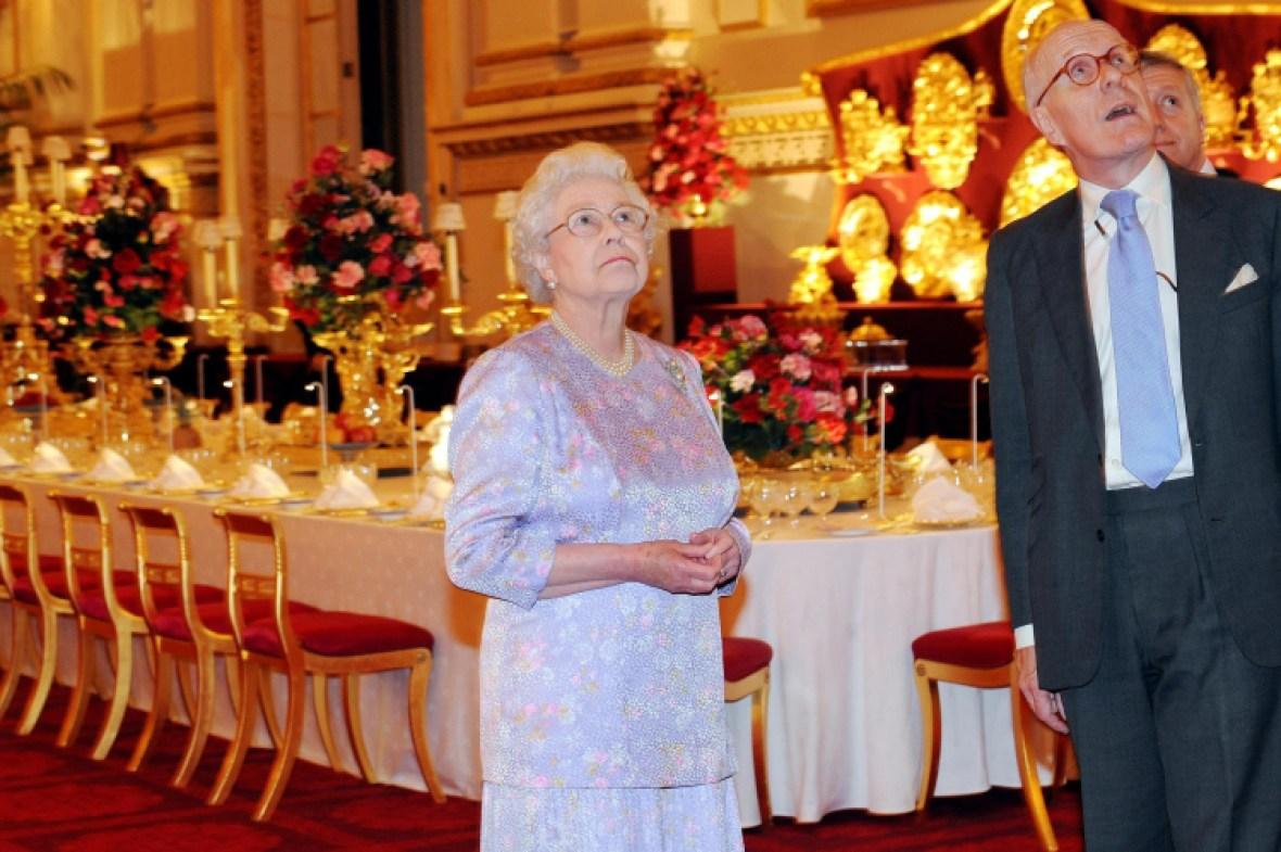 queen elizabeth in buckingham palace getty