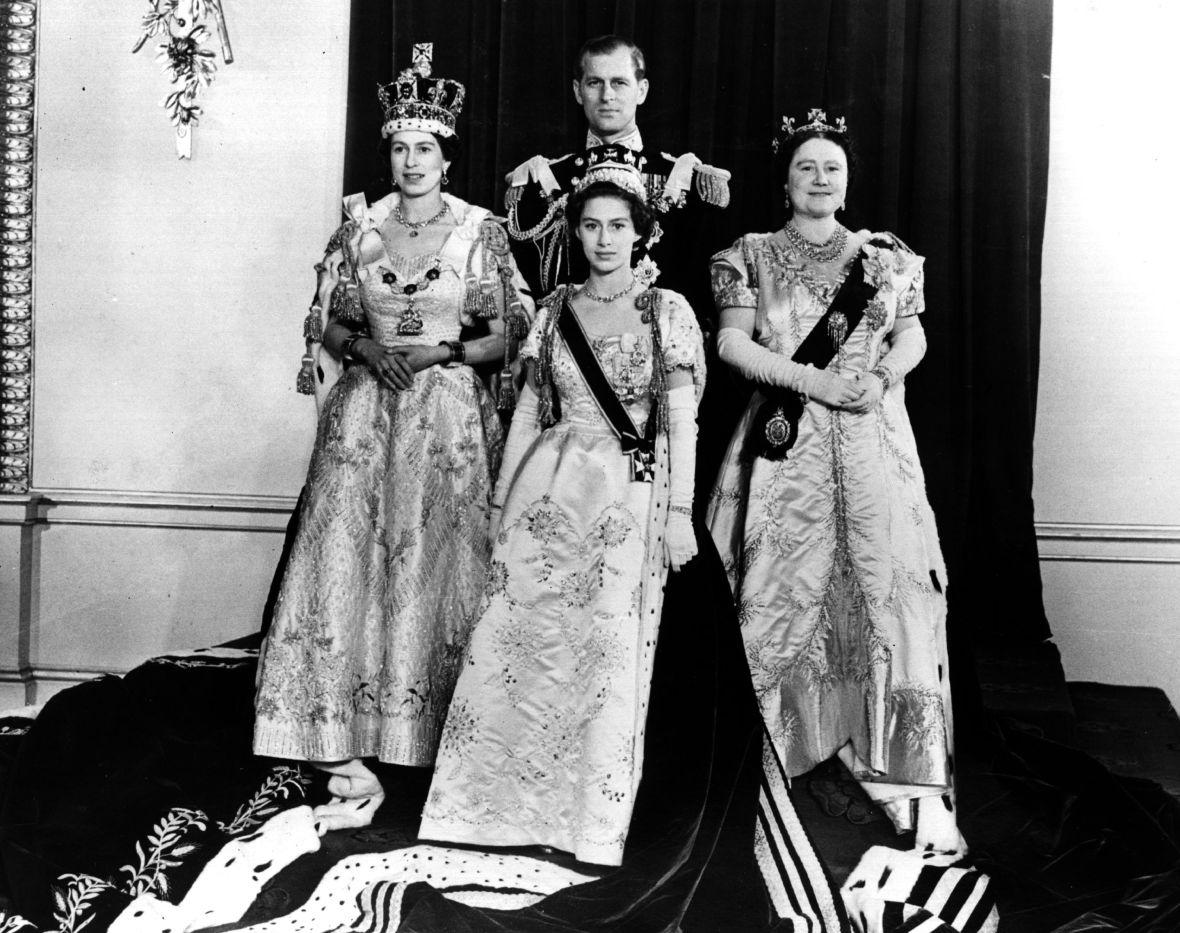 queen elizabeth coronation getty