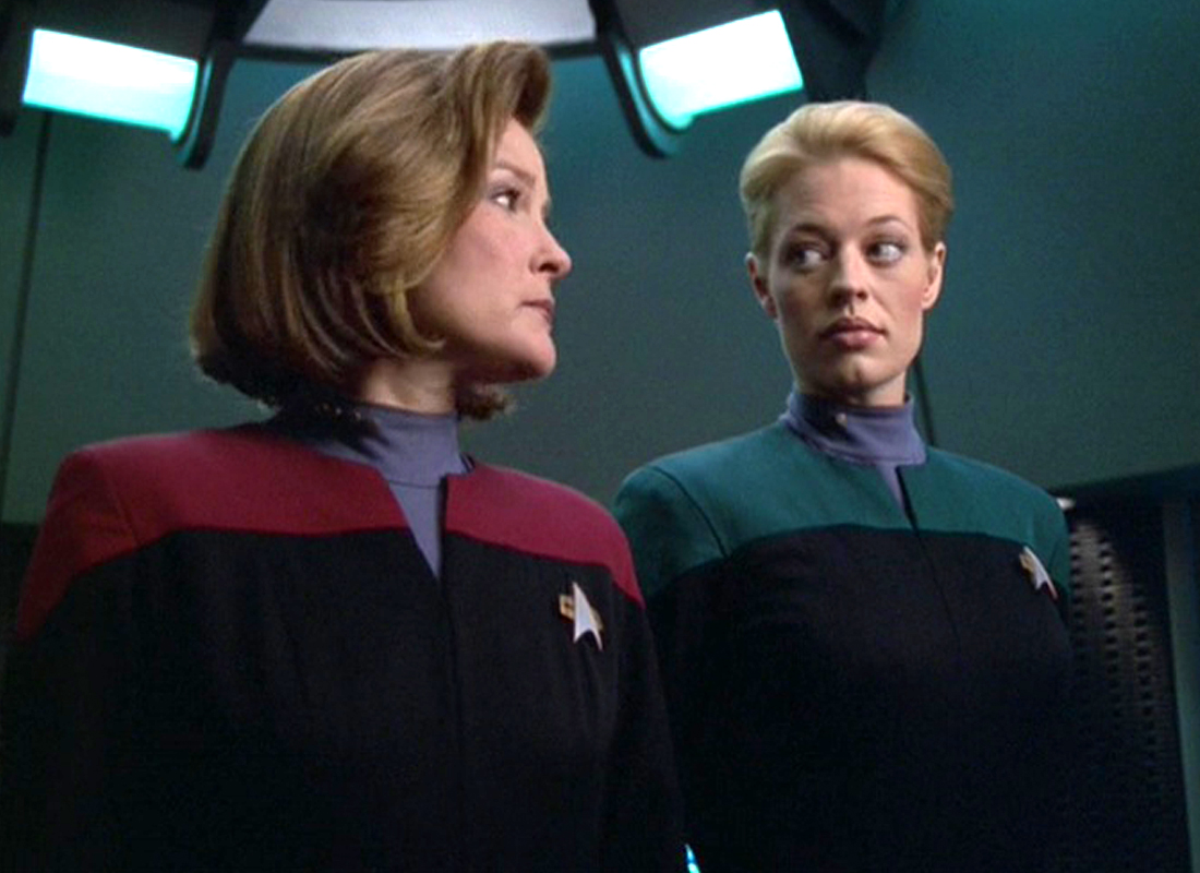 star trek voyager - janeway and seven of nine