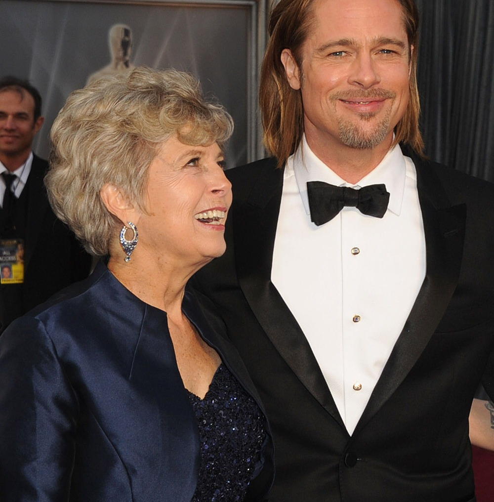 brad pitt mom getty
