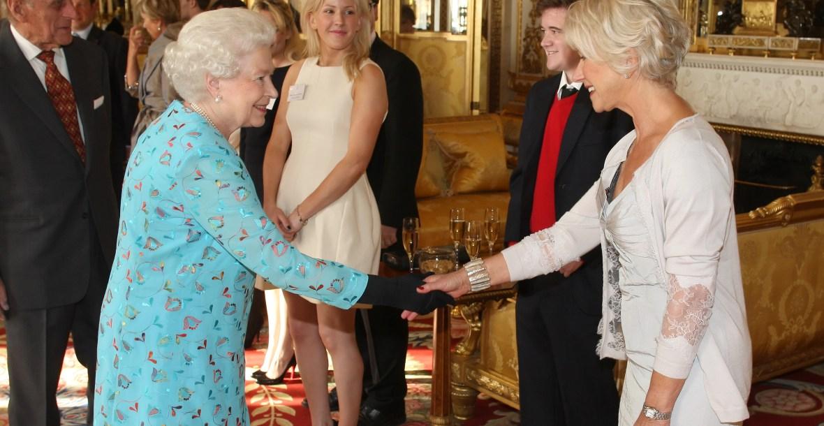 queen elizabeth helen mirren meeting getty