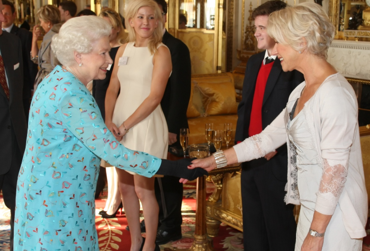 queen elizabeth helen mirren meeting getty
