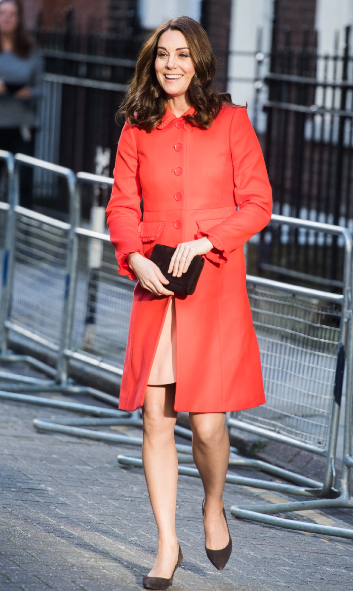 kate middleton red dress coat