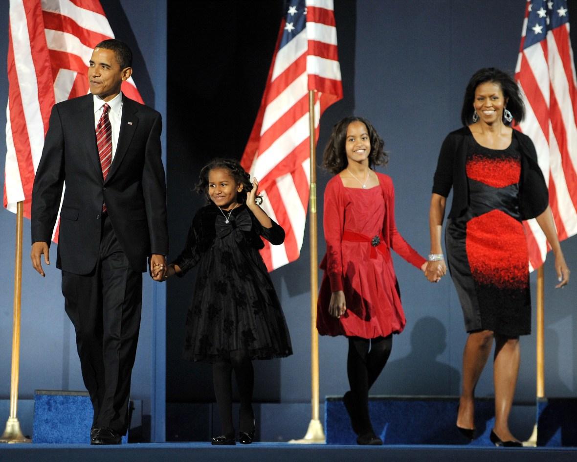 obama family 2008 getty