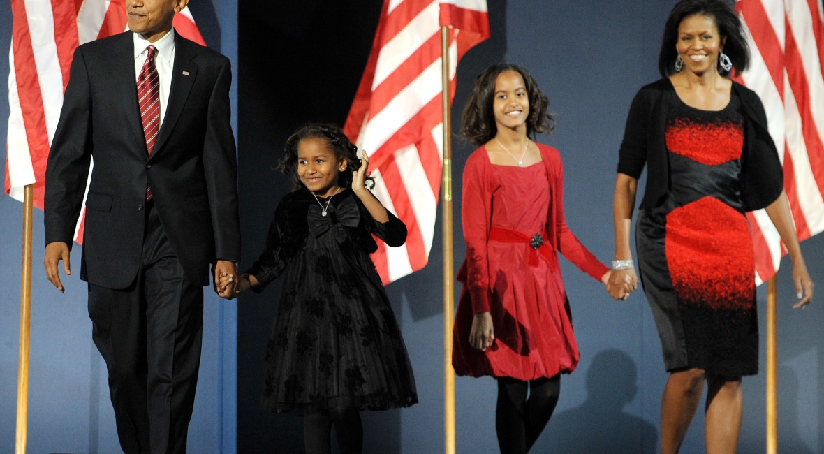 obama family 2008 getty