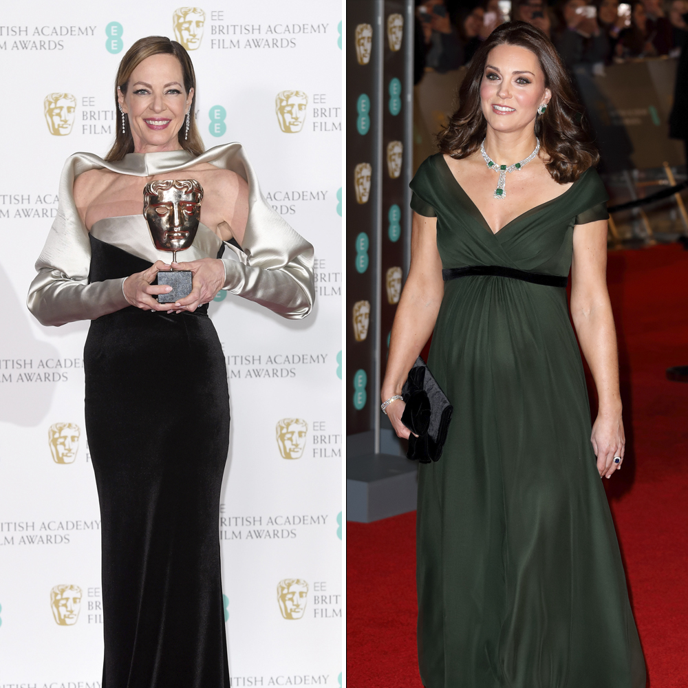 kate middleton and allison janney baftas getty images