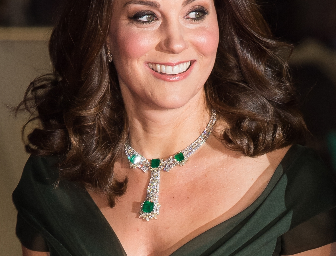 kate middleton baftas dress getty images