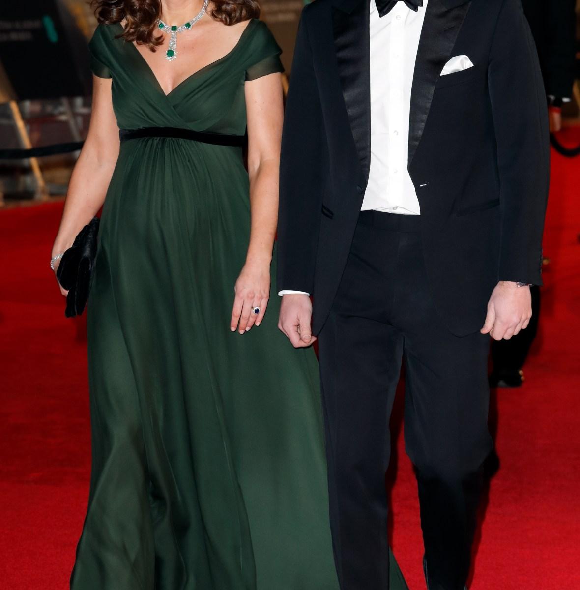 kate middleton baftas 2018 dress prince william