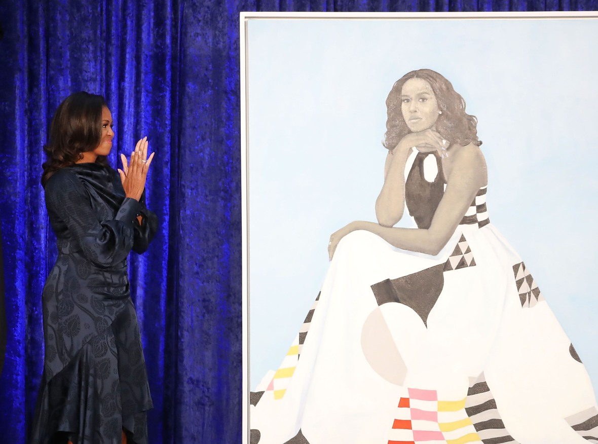 michelle obama portrait getty images