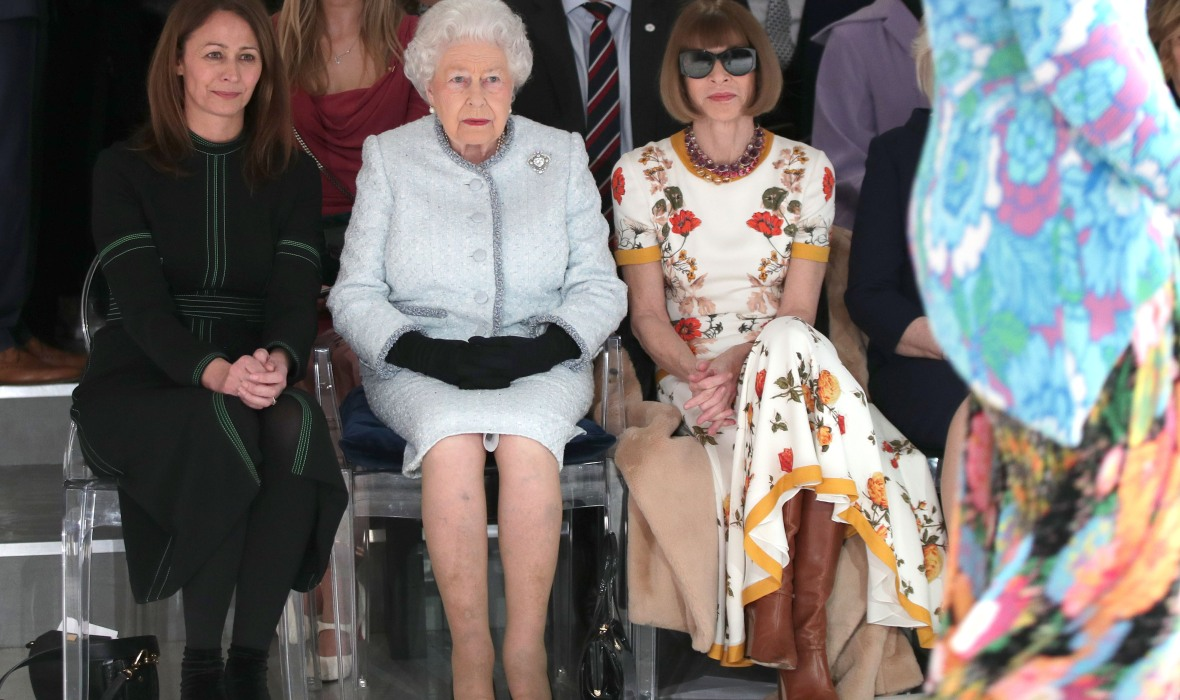 queen elizabeth london fashion week getty images