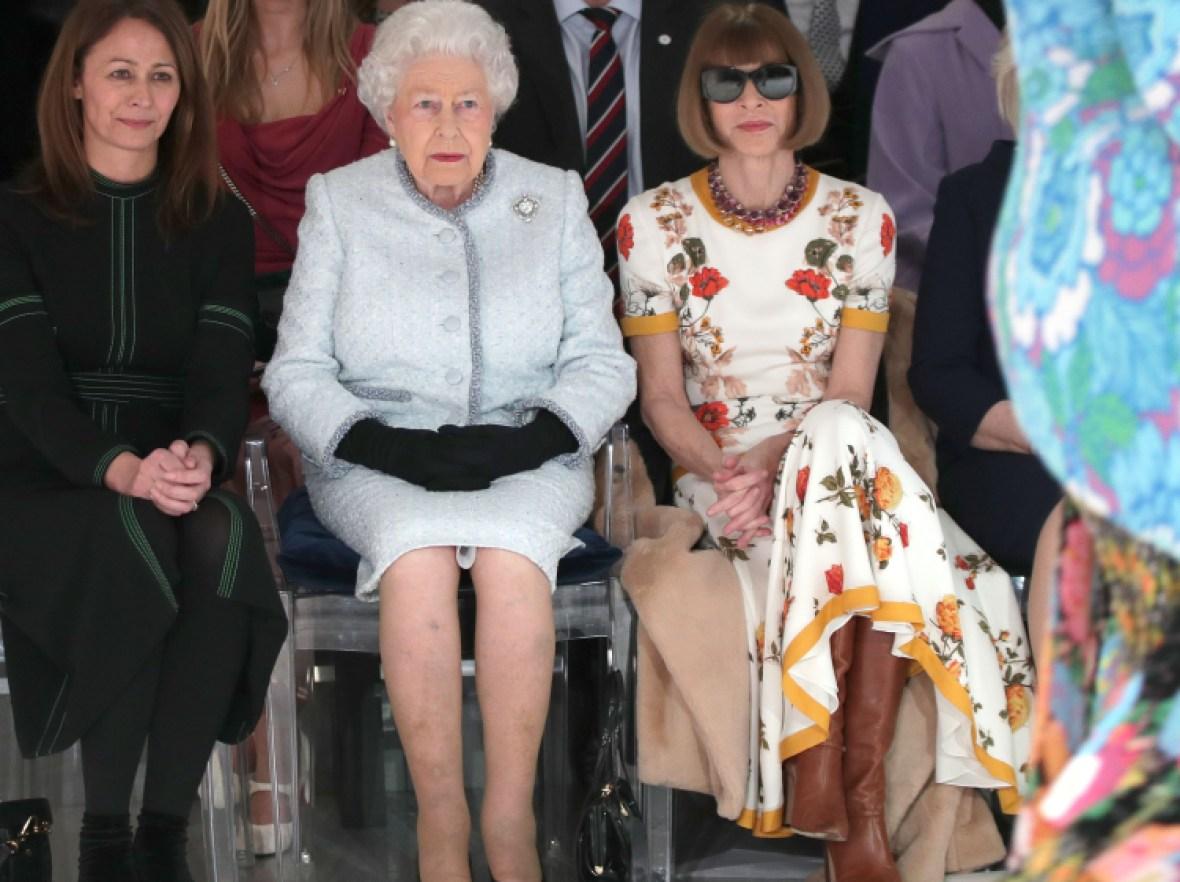 queen elizabeth london fashion week getty images