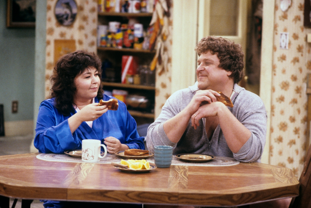 roseanne barr john goodman getty images