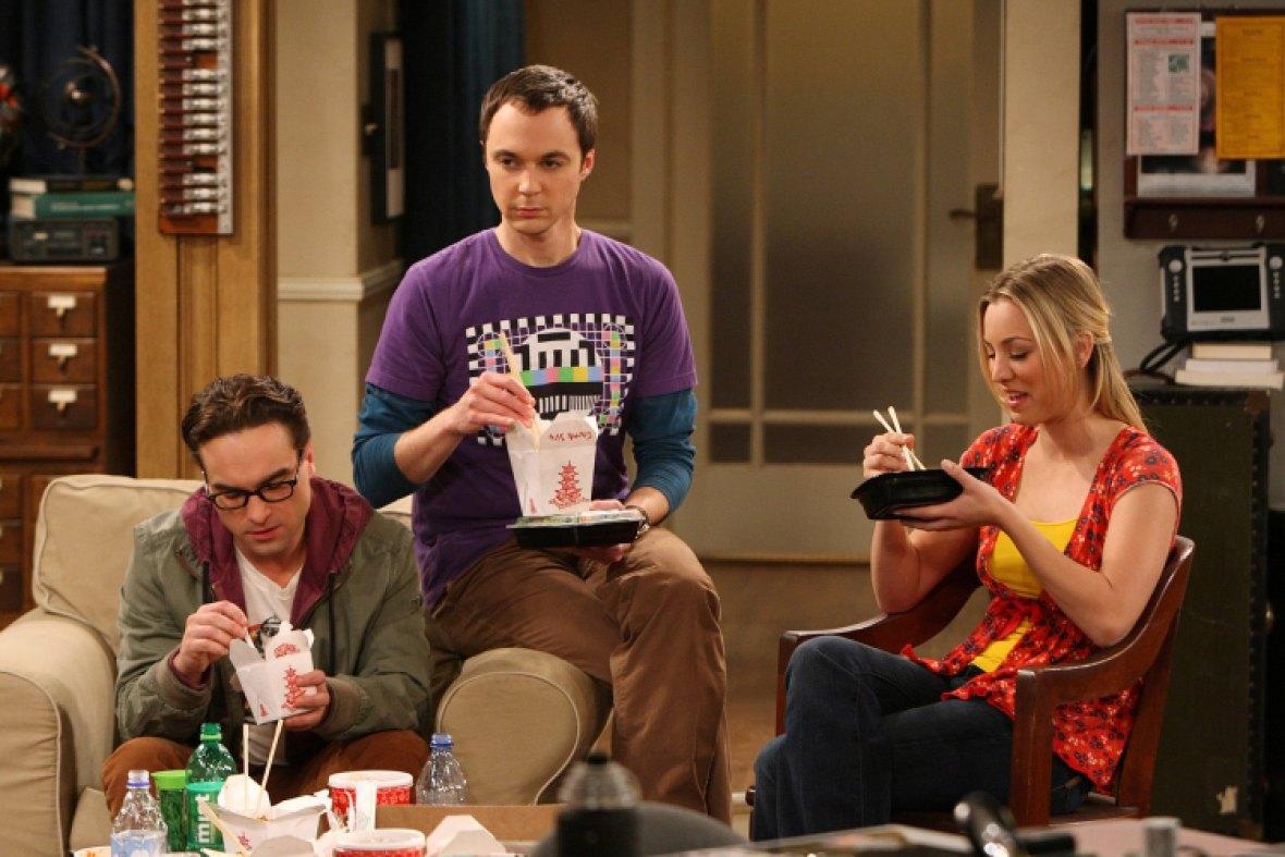 big bang theory - leonard, sheldon and penny