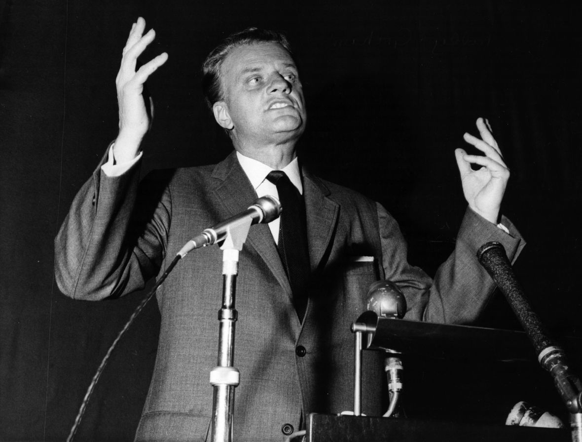 billy graham preaching getty images