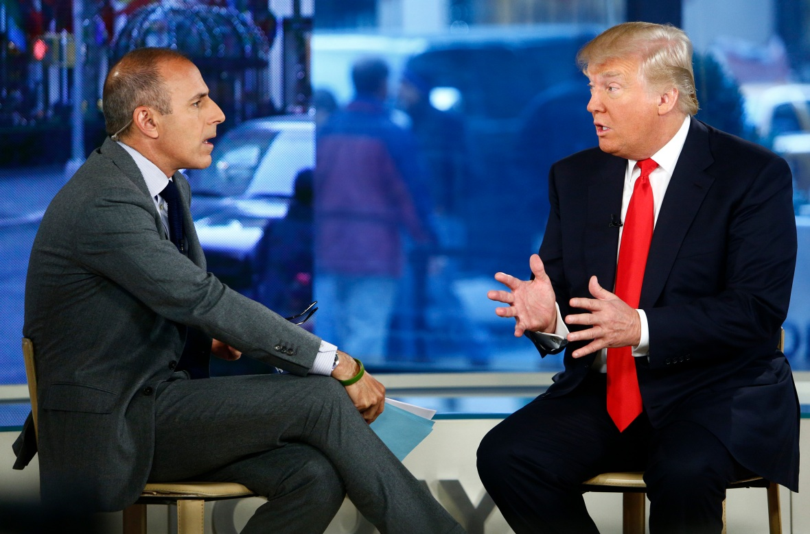 matt lauer donald trump getty images