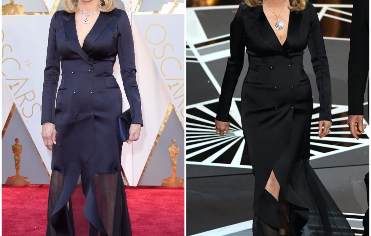 faye dunaway 2017 oscars dress getty