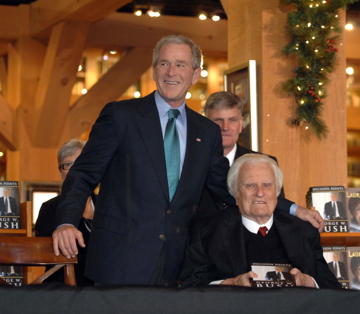 billy graham and george w. bush getty images