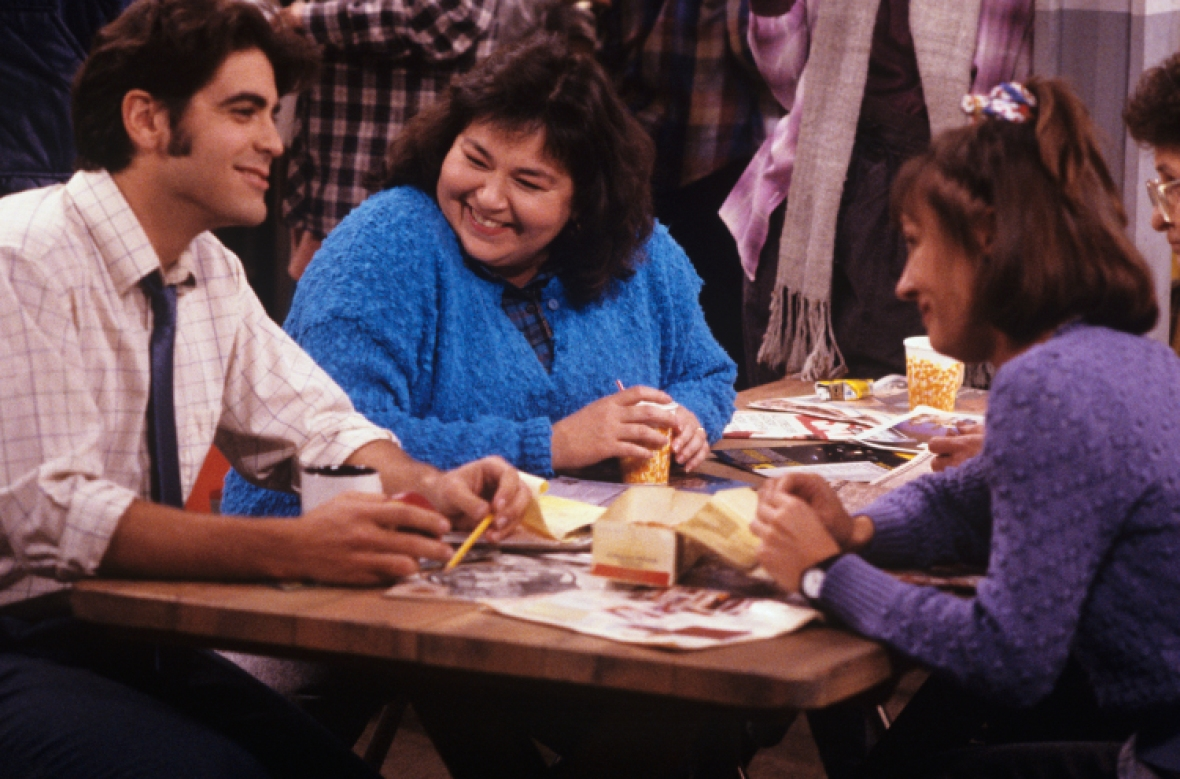 george clooney 'roseanne' getty images