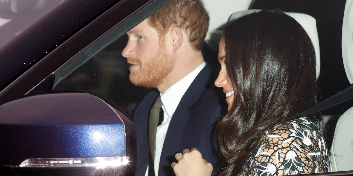 prince harry meghan markle driving getty