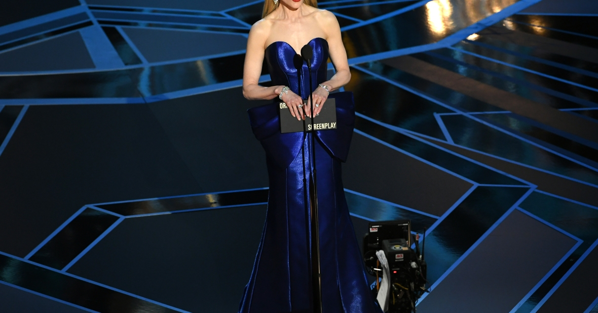 nicole kidman on stage at the 2018 oscars getty