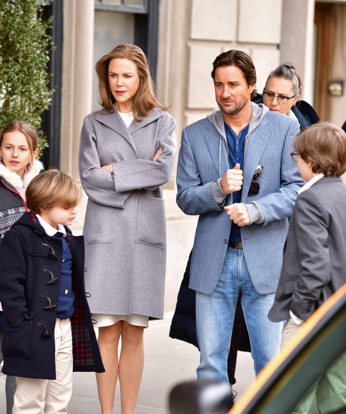nicole kidman and luke wilson on set of the goldfinch getty